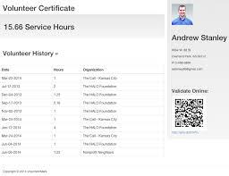 Volunteer Certificate View Service Hour Certificate Volunteer Learning Center