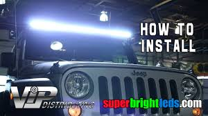 led light bar installed on a jeep 50 led light bar installed on a jeep
