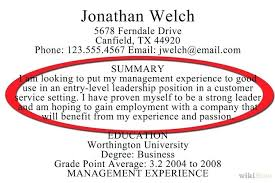 A Good Summary For A Resumes Resume Summary How To Write Summary In Resume Phen375articles Com