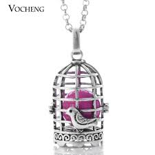 vocheng caller harmony birdcage pendant jewelry angel ball necklaces pregnant necklaces with stainless steel chain va 095