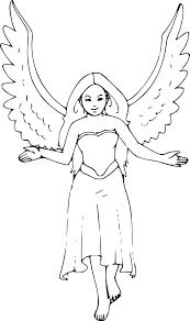 Coloriage Femme Ange Imprimer Sur Coloriages Info