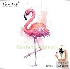 акварель поддельные фламинго временные татуировки наклейки колибри стрекоза