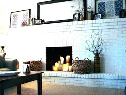 painted brick fireplace white painted brick fireplace