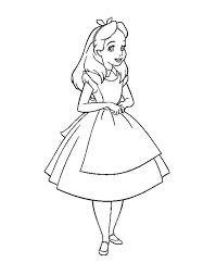 Small Picture Beautiful Alice in Wonderland Coloring Page Download Print