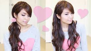 Headband Hair Style romantic braided headband hairstyle hair tutorial youtube 7947 by wearticles.com