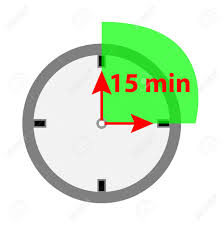 Fifteen Minutes Timer Timer Icon 15 Minutes Isolated On White Background Royalty Free