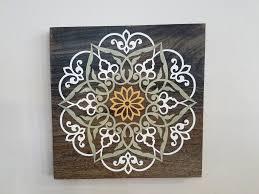 painted wood mandala wall art handmade  on mandala wall art with painted wood mandala wall art handmade kelissa shea