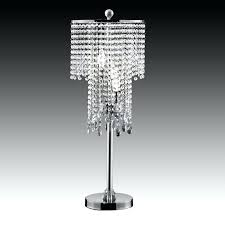 crystal desk lamp acrylic chandelier parts and table regarding modern lamps stacked bedside base