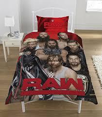 WWE Raw Vs Smackdown Official Reversible Double Duvet (Single) (Multicoloured)