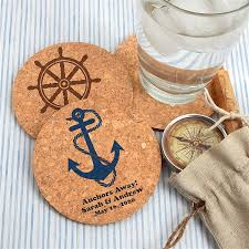 Custom cork coasters Round Cork Personalized Round Cork Coaster Wedding Favors Beach Wedding Nautical Wedding Theme Totally Promotional Personalized Round Cork Coaster Wedding Favors Beach Wedding