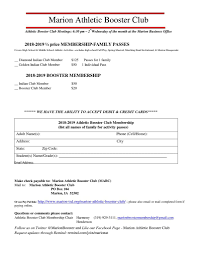 Half Price Membership Marion Boosters Marion Independent