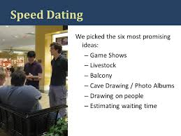 speed dating game show