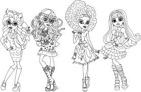 Small Picture Free Printable Monster High Coloring Pages Bebo Pandco