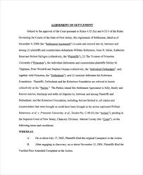 Settlement Agreement Template 14 Confidential Settlement Agreement