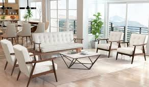 White Living Room Set Rocky Modern Living Room Set In White By Zuo Getfurniture