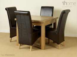 dining room tables chairs square: wooden expandable dining table set with square table and leather recliner cover chair for dining room