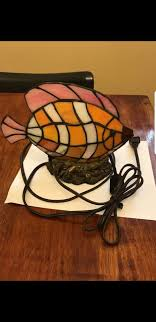 art glass tiffany style fish night light desk lamp two diffe brightness settings for light and a long cord for in delray beach fl offerup