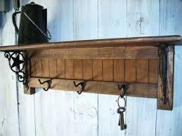 Rustic Wall Coat Rack With Shelf Coat Racks marvellous wall mounted coat rack with hooks and shelf 11