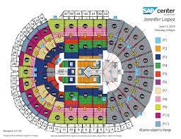 Sap Center Seating Chart Concert Jennifer Lopez Sap Center