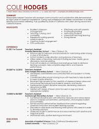 Teacher Assistant Resume Skills Best Sample Best Assistant Teacher