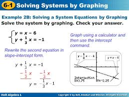 example 2b solving a system equations by graphing