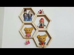 diy honeycomb shelves from popsicle sticks