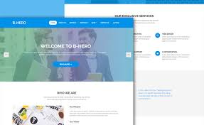 Bootstrap Website B Hero Enthralling Free Html5 Bootstrap 4 Business Website Template