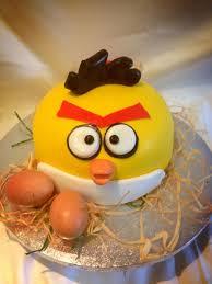 angry birds cake yellow