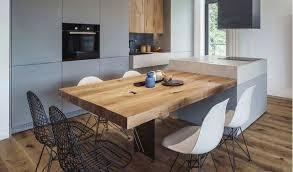 Beau Cuisine Avec Ilot Central Table Idées De Décoration