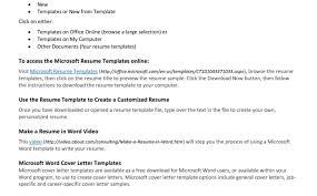 Resume Resume Examples Simple Resume Template Microsoft Word