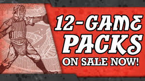 choose from four diffe 12 game packs or pick your own