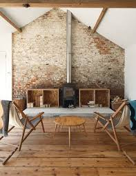 exposed brick walls barn