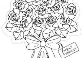 Mazzo Di Rose Da Colorare Fredrotgans