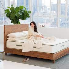 Reclaimed Wood Natural Bed Frames Avocado Green Mattress