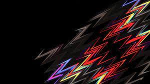 Lightning Shapes Dark Abstract 4k, HD ...