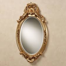 hallandale oval wall mirror antique gold touch to zoom