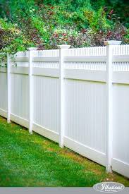 white fence. White Fence A Close Up Of Stunning Vinyl Privacy From Illusions .
