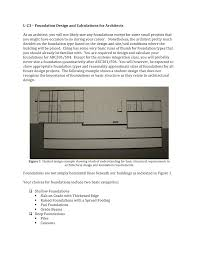 Pad Foundation Design Example Foundation Design And Calculations For Architects Studocu