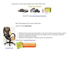 Great Deals on Notre Dame Fighting Irish Leather Office Chair Special ...