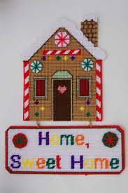 plastic canvas gingerbread house