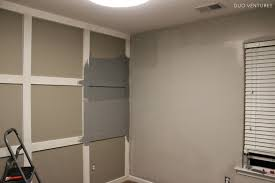 we started by painting the closet 3 walls mel cutting in except the baseboards which were too awkward to paint with a pregnant belly nader rolling