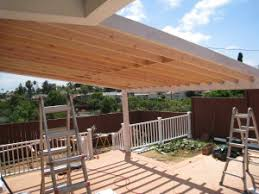 wood patio covers. Delighful Patio Patio Cover In Progress Intended Wood Patio Covers O