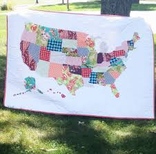 We love this customer's take on our free map quilt tutorial. Click ... & We love this customer's take on our free map quilt tutorial. Click for the  free Adamdwight.com