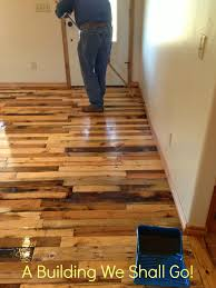 Pallet Home A Building We Shall Go The Art Of Pallet Wood Flooring