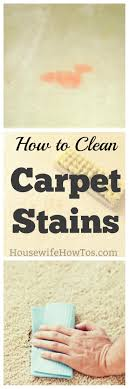 How to Clean Carpet Stains - Grease, paint, pets, food, nail polish