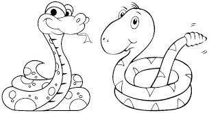 Snake Coloring Pages Snakes Different Colors Children Coloring
