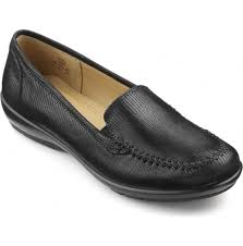 hotter hotter womens jazz extra wide black lizard leather slip on shoes