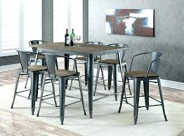 counter height dining table seats 8 bar chairs set medium size of with and round se