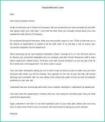 Latest Welcome Letter Template Word For Letter Format Sample Wel E
