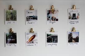 7 binder clip photo wall